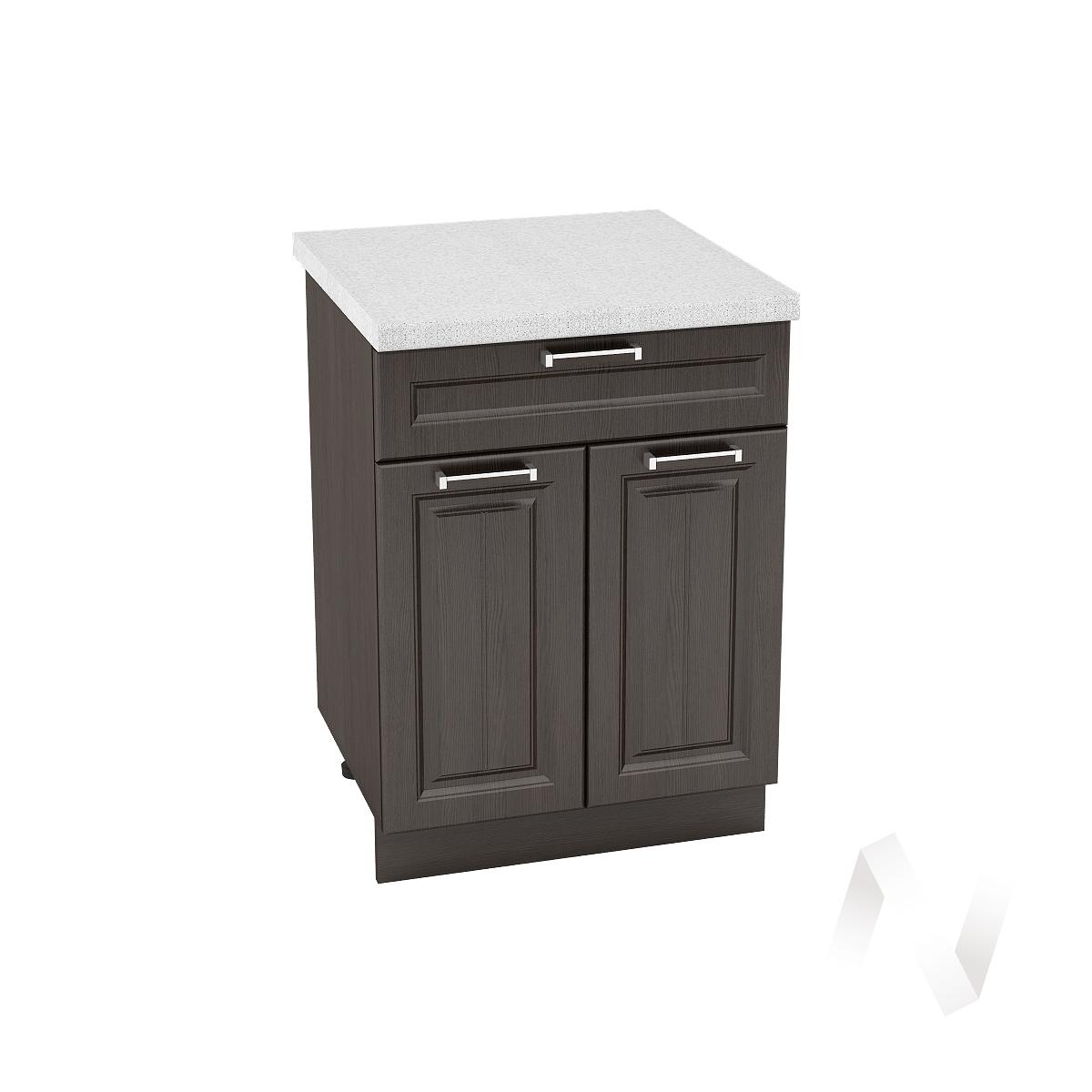 """Кухня """"Прага"""": Шкаф нижний с ящиком 600, ШН1Я 600 М (венге/корпус венге)"""