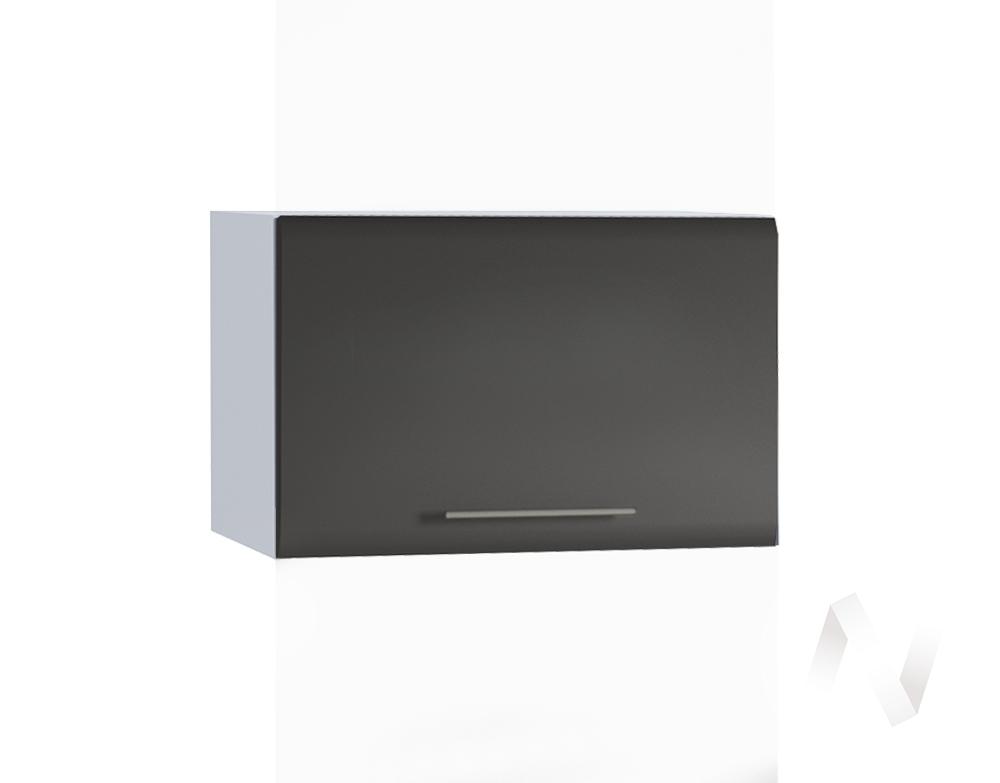 """Кухня """"Люкс"""": Шкаф верхний горизонтальный 500, ШВГ 500 (Шелк венге/корпус белый)"""