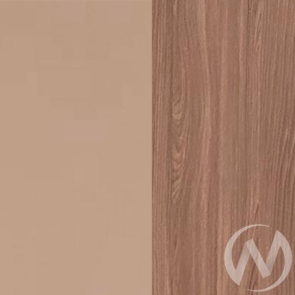 Шкаф 2х створчатый Прихожая Вега (ясень шимо темный-мокко глянец) в Томске — авторская мебель Экостиль
