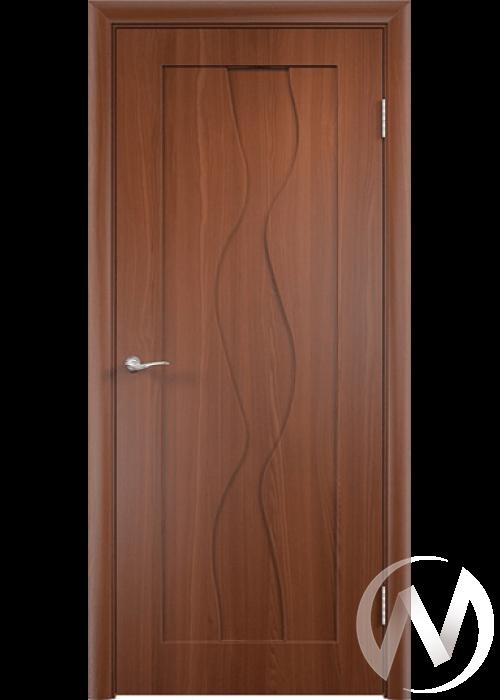 Дверь ПВХ Тип Водопад, 60, глухая, итальянский орех  в Новосибирске - интернет магазин Мебельный Проспект