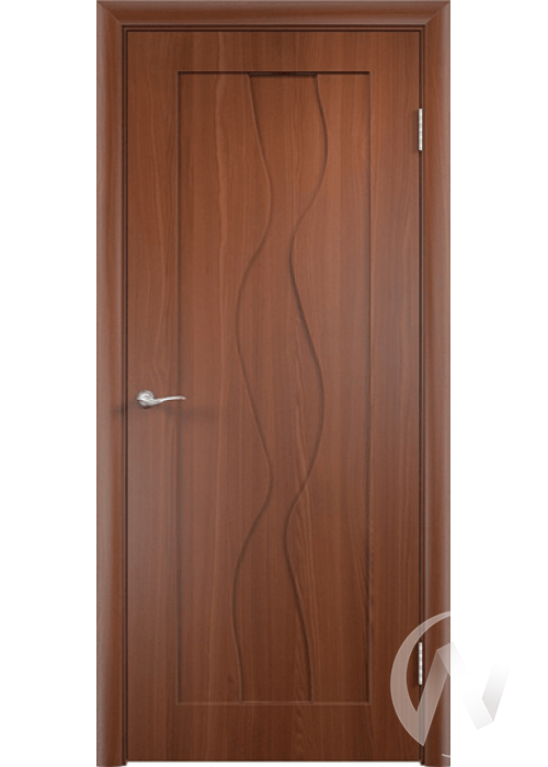 Дверь ПВХ Тип Водопад, 60, глухая, итальянский орех