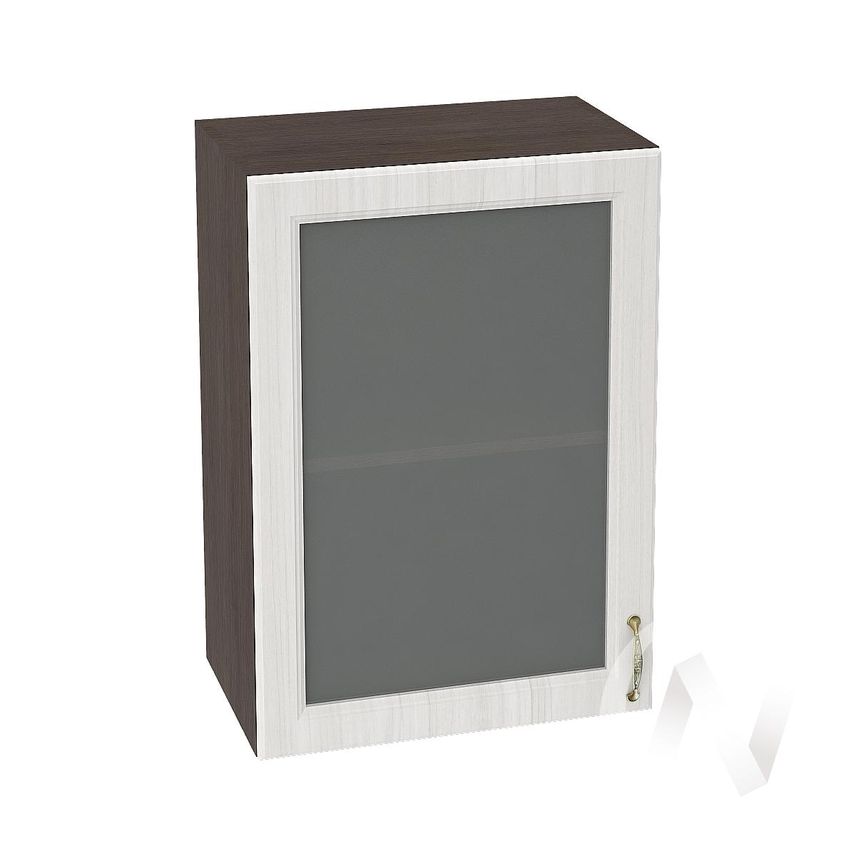 """Кухня """"Виктория"""": Шкаф верхний со стеклом 500, ШВС 500 (корпус венге)"""