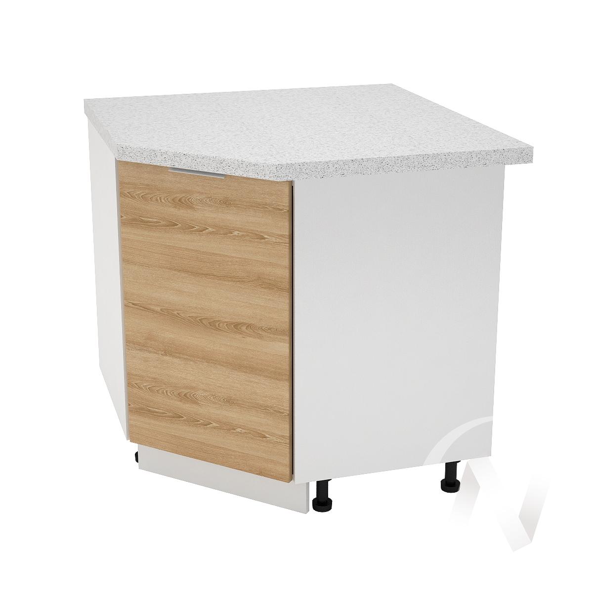"""Кухня """"Терра"""": Шкаф нижний угловой 890, ШНУ 890 (ель карпатская/корпус белый)"""
