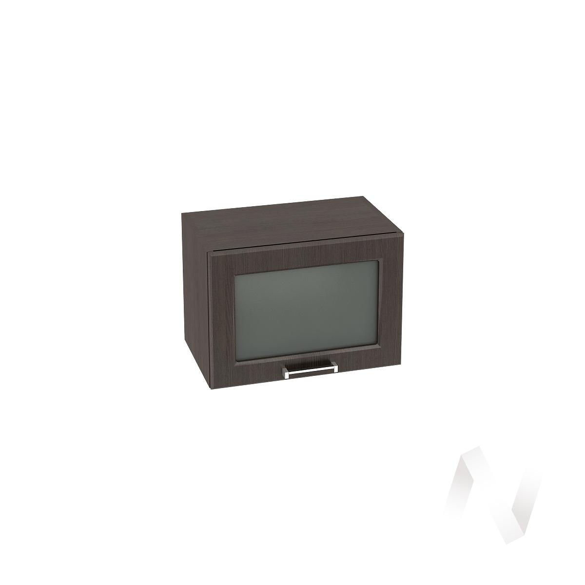 """Кухня """"Прага"""": Шкаф верхний горизонтальный со стеклом 500, ШВГС 500 (венге/корпус венге)"""