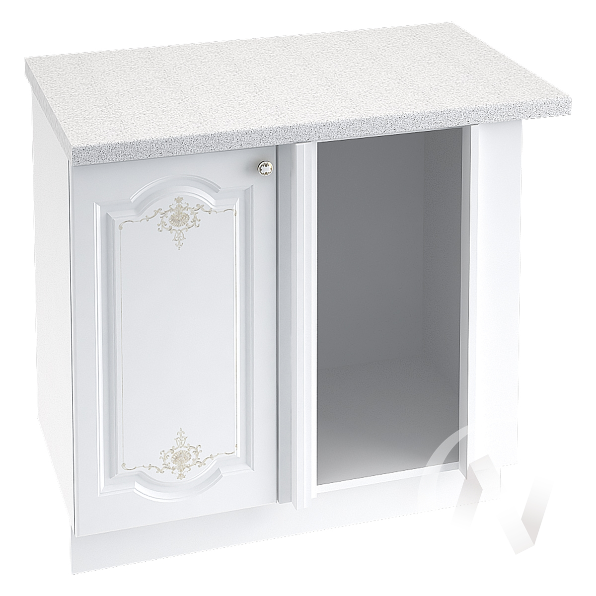 "Кухня ""Шарлиз"": Шкаф нижний угловой 990М, ШНУ 990М (корпус белый)"