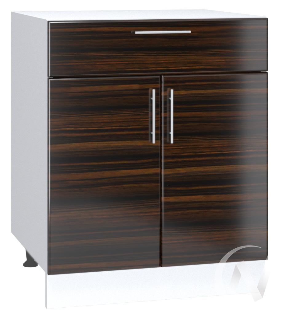 "Кухня ""Норден"": Шкаф нижний с ящиком 600, ШН1Я 600 М (эбен/корпус белый)"