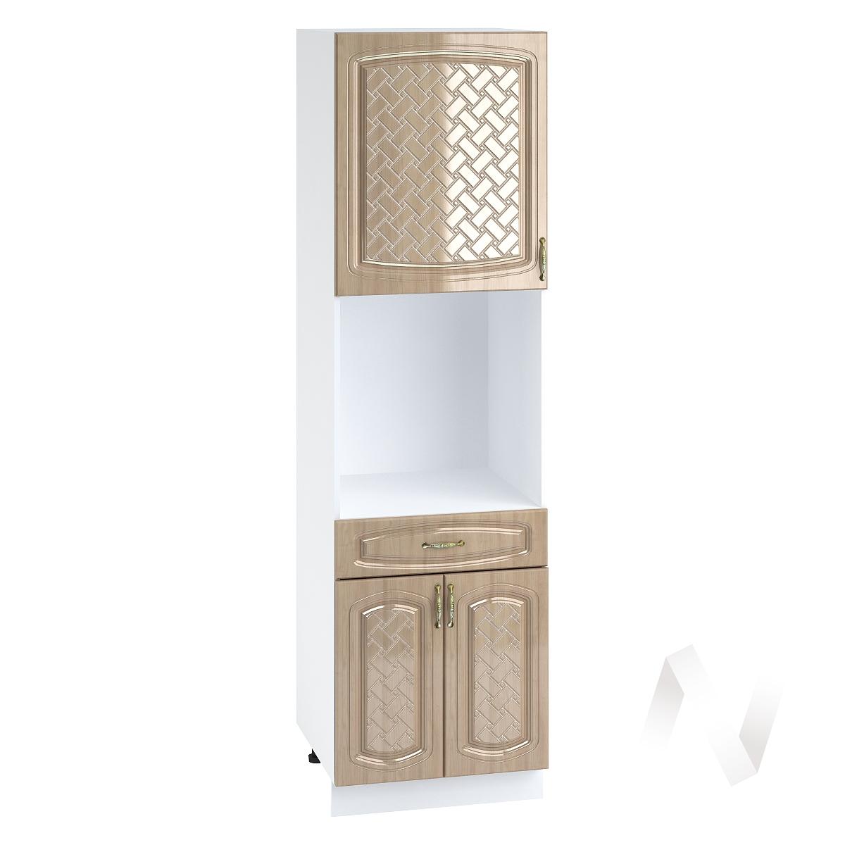 """Кухня """"Сити"""": Шкаф пенал с ящиком 600, ШП1Я 600 (корпус белый)"""
