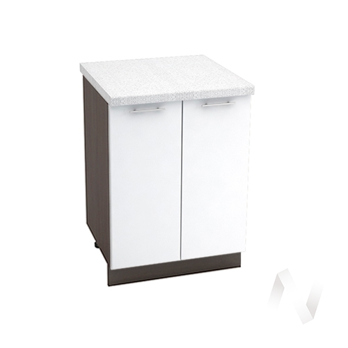 "Кухня ""Валерия-М"": Шкаф нижний 600, ШН 600 (белый глянец/корпус венге)"
