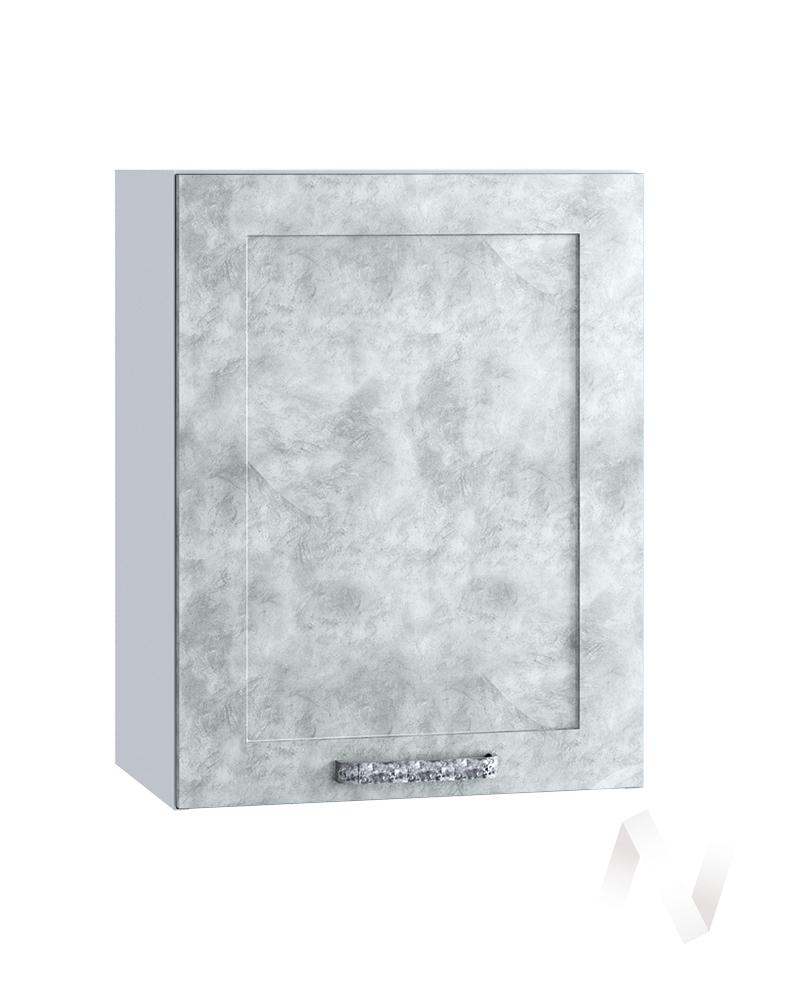 "Кухня ""Лофт"": Шкаф верхний 500, ШВ 500 (Бетон серый/корпус белый)"