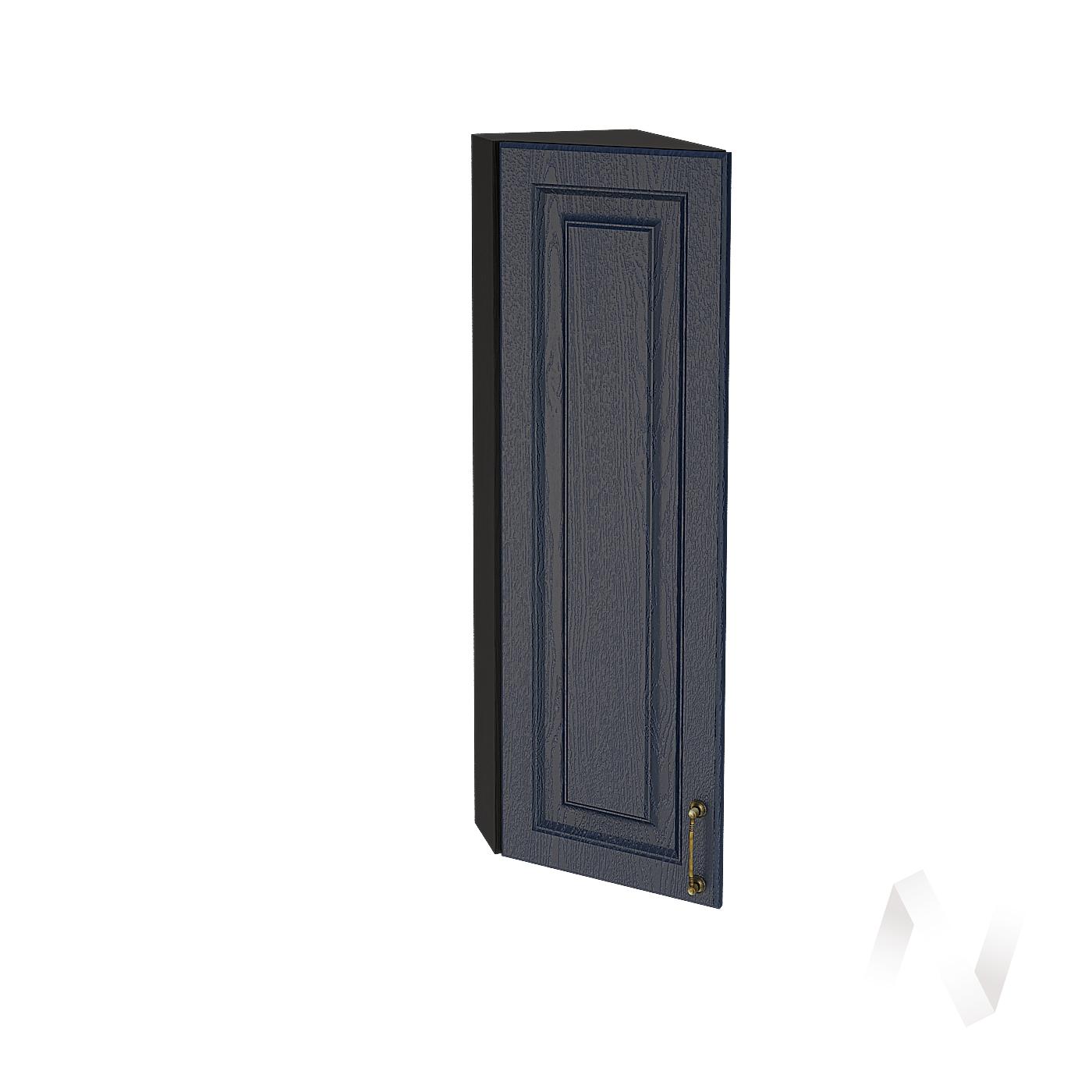 """Кухня """"Ницца"""": Шкаф верхний торцевой 224Н, ШВТ 224Н (Дуб чернильный/корпус венге)"""