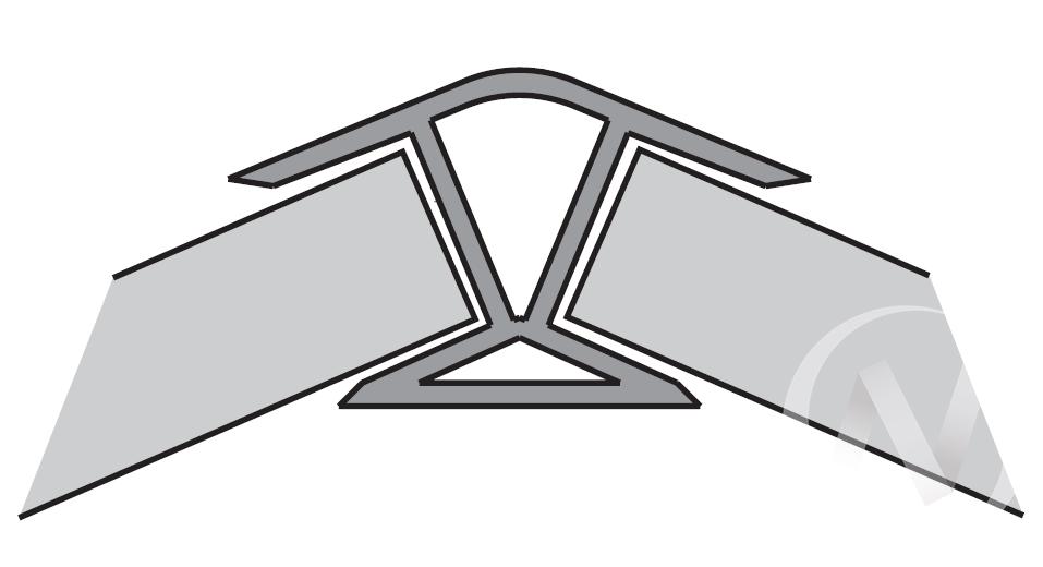 Угол 135* внутренний 100 мм (белый)  в Томске — интернет магазин МИРА-мебель