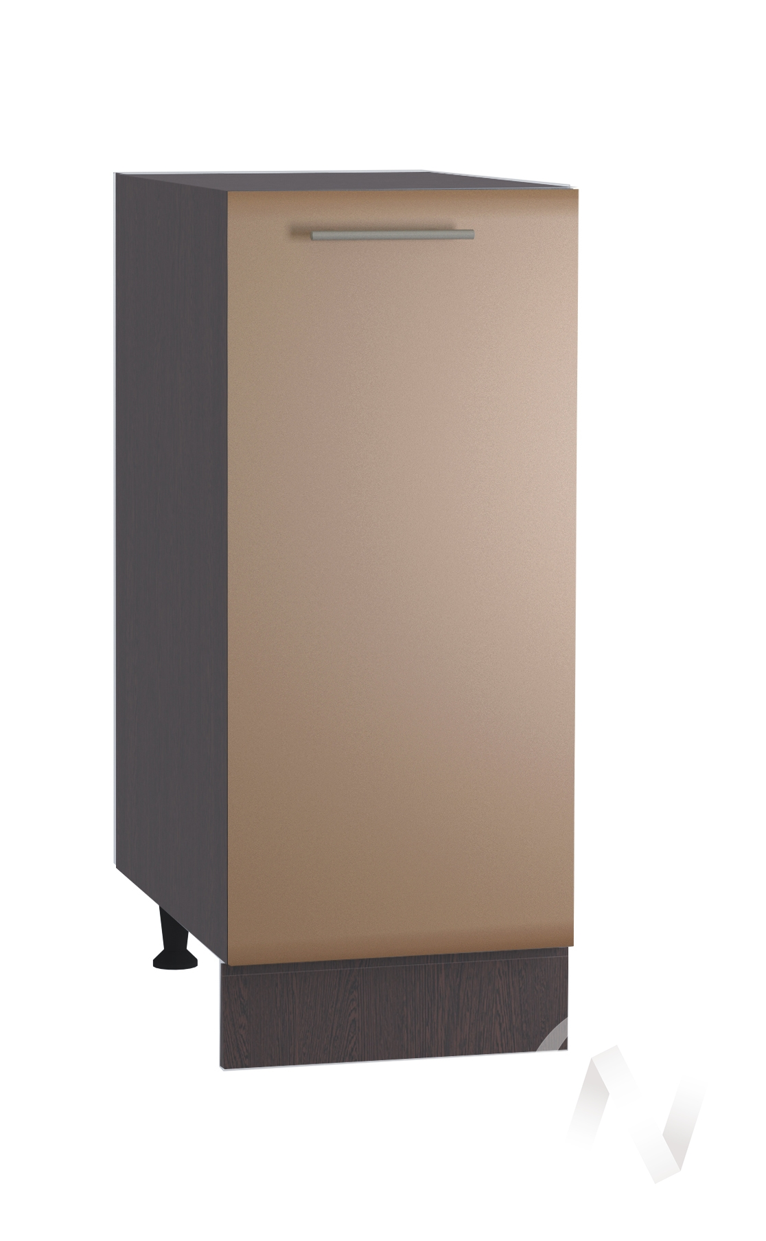 """Кухня """"Люкс"""": Шкаф нижний 300, ШН 300 (Шоколад матовый/корпус венге)"""