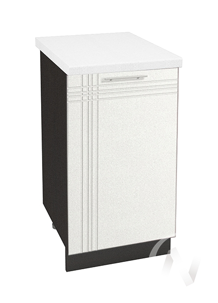 """Кухня """"Струна"""": Шкаф нижний 450, ШН 450 (белый металлик/корпус венге)"""