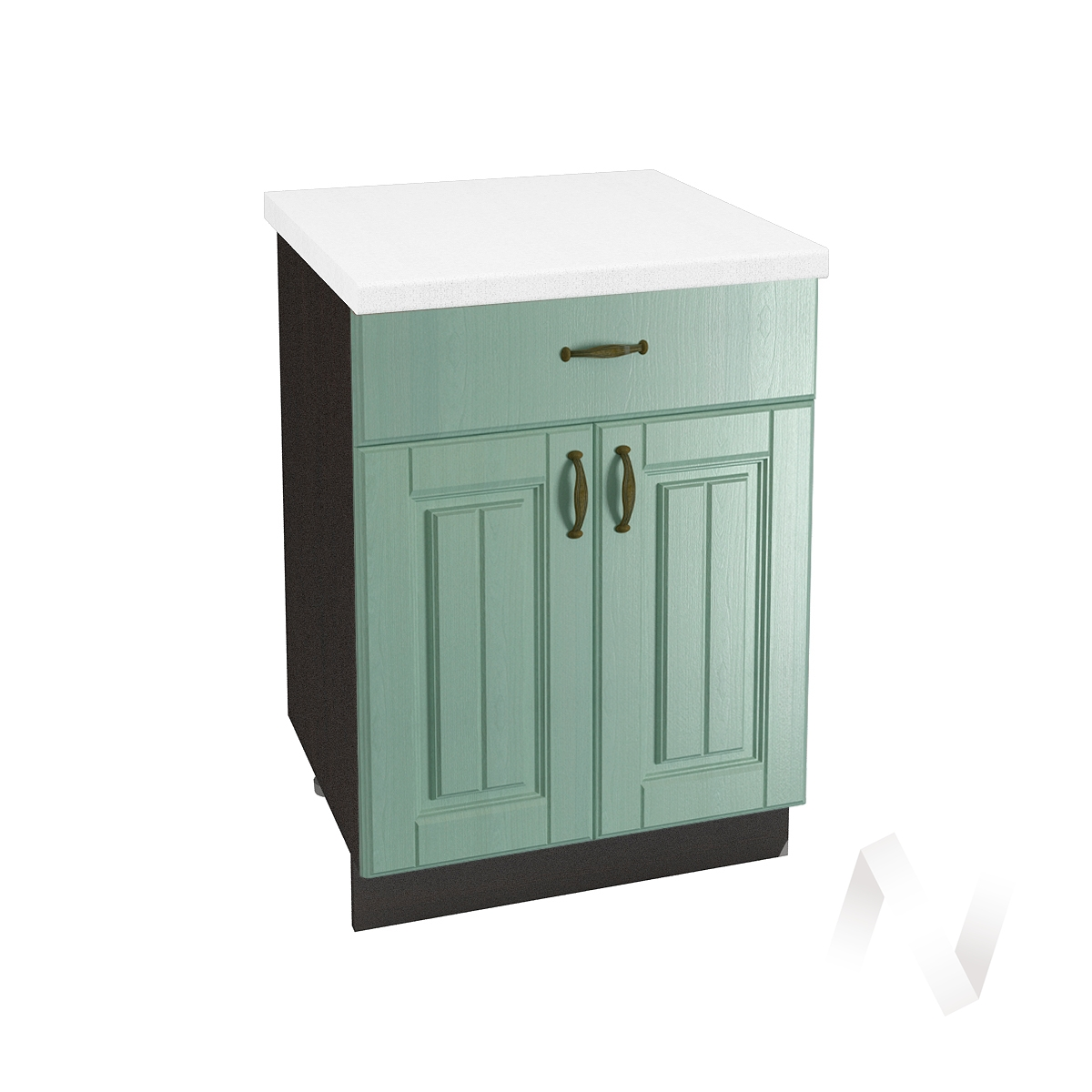 "Кухня ""Прованс"": Шкаф нижний с ящиком 600, ШН1Я 600 М (корпус венге)"