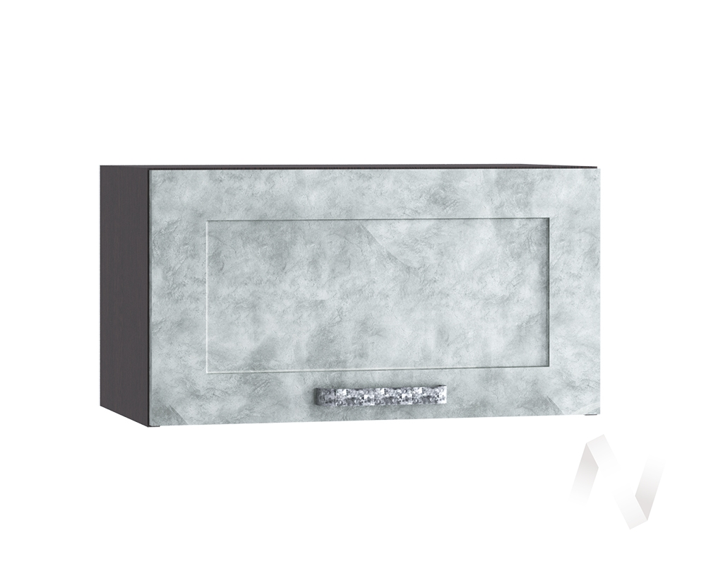 """Кухня """"Лофт"""": Шкаф верхний горизонтальный 600, ШВГ 600 (Бетон серый/корпус венге)"""