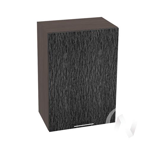 """Кухня """"Валерия-М"""": Шкаф верхний 500, ШВ 500 (дождь черый/корпус венге)"""
