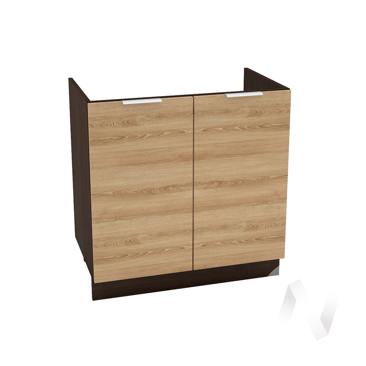 """Кухня """"Терра"""": Шкаф нижний под мойку 800, ШНМ 800 (ель карпатская/корпус венге)"""