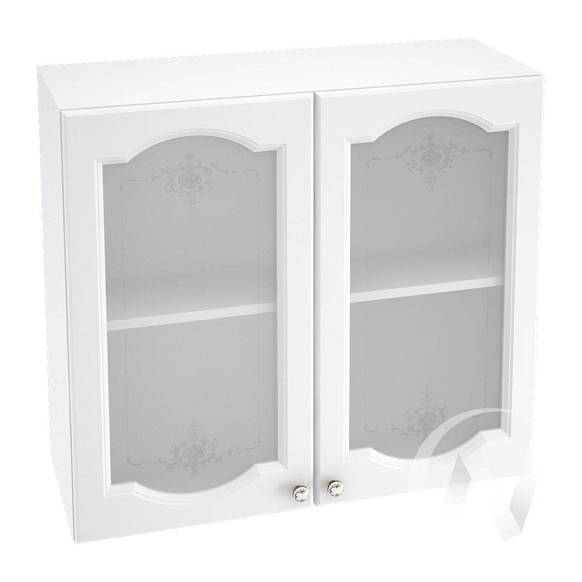"Кухня ""Шарлиз"": Шкаф верхний со стеклом 800, ШВС 800 (корпус белый)"
