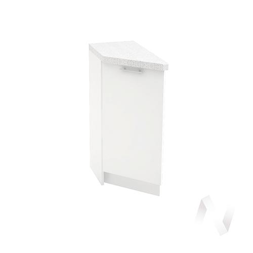 """Кухня """"Валерия-М"""": Шкаф нижний торцевой 300, ШНТ 300 (белый глянец/корпус белый)"""