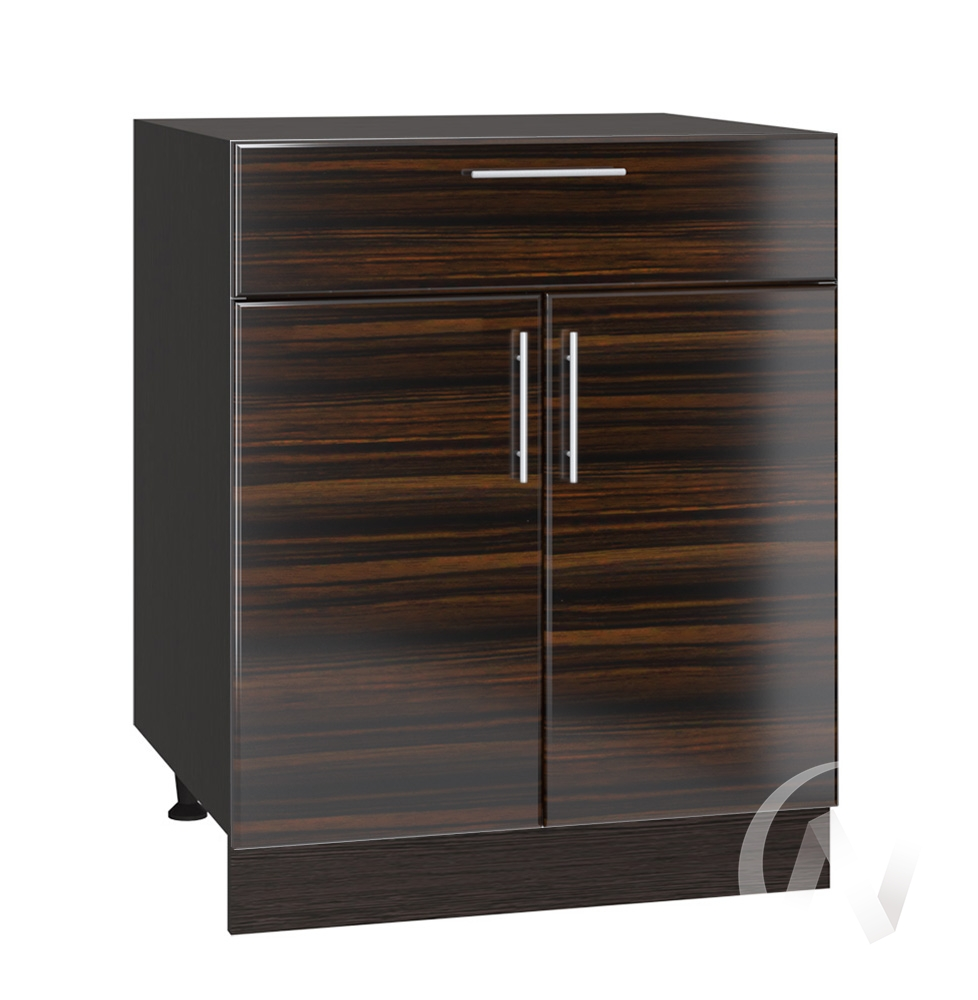"Кухня ""Норден"": Шкаф нижний с ящиком 600, ШН1Я 600 М (эбен/корпус венге)"