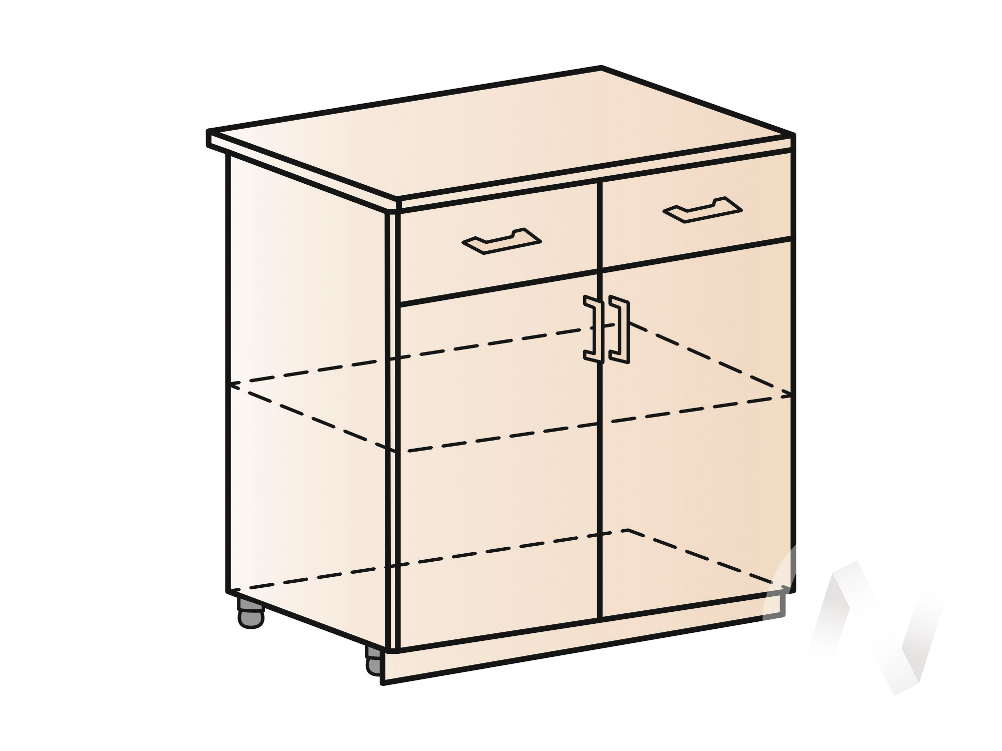 """Купить кухня """"струна"""": шкаф нижний с ящиками 800, шн1я 800 (фиолетовый металлик/корпус венге) в Новосибирске в интернет-магазине Мебель плюс Техника"""