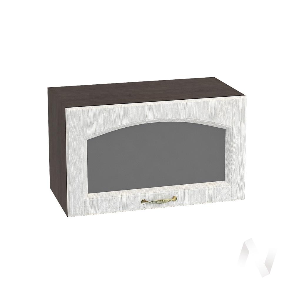 """Кухня """"Верона"""": Шкаф верхний горизонтальный со стеклом 600, ШВГС 600 (ясень золотистый/корпус венге)"""