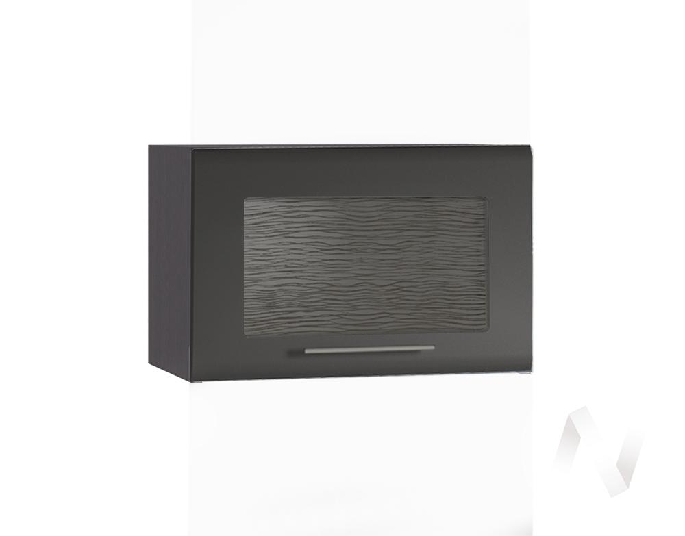 """Кухня """"Люкс"""": Шкаф верхний горизонтальный со стеклом 500, ШВГС 500 (Шелк венге/корпус венге)"""