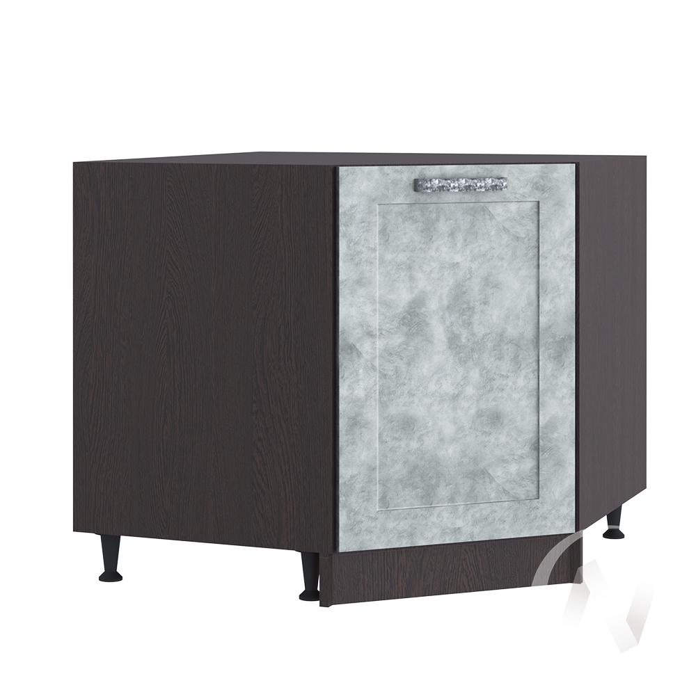 "Кухня ""Лофт"": Шкаф нижний угловой 890, ШНУ 890 (Бетон серый/корпус венге)"