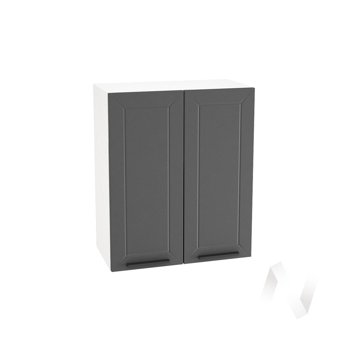 "Кухня ""Глетчер"": Шкаф верхний 600, ШВ 600 (Маренго силк/корпус белый)"
