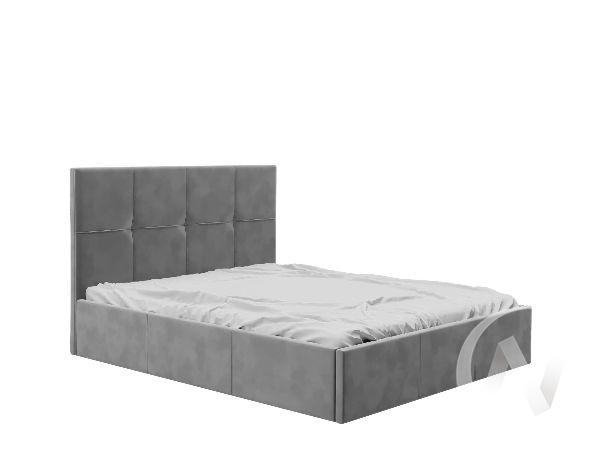 Кровать Куба 1,6 с подъемным механизмом (вельвет серый)
