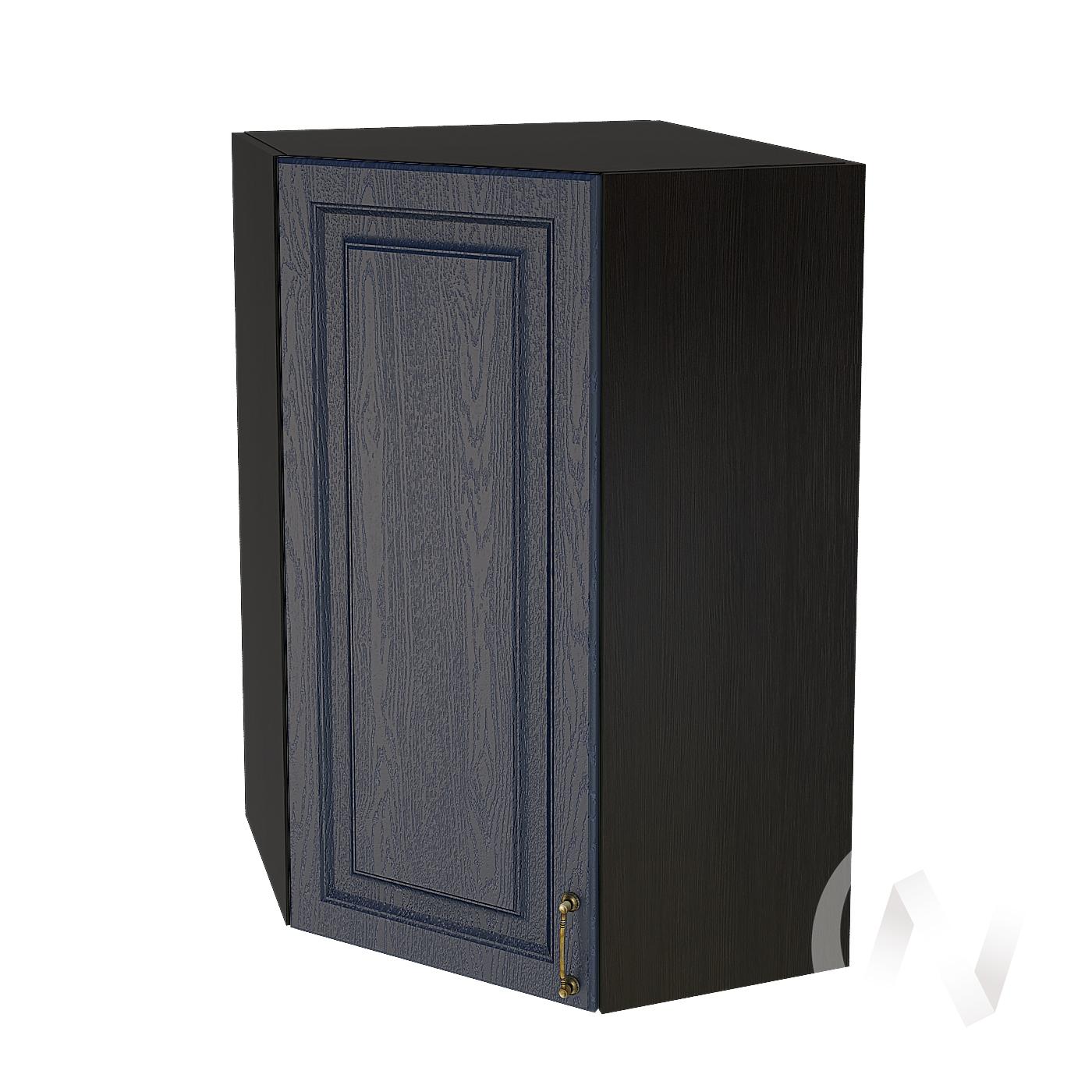 """Кухня """"Ницца"""": Шкаф верхний угловой 599, ШВУ 599 (Дуб чернильный/корпус венге)"""