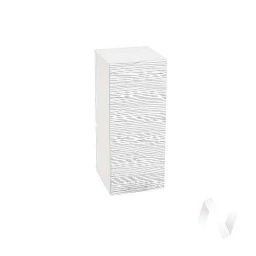 "Кухня ""Валерия-М"": Шкаф верхний 300, ШВ 300 (Страйп белый/корпус белый)"