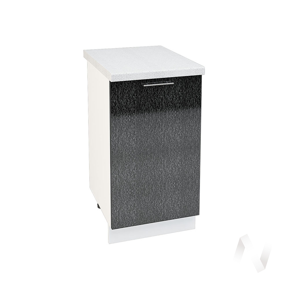 "Кухня ""Валерия-М"": Шкаф нижний 450, ШН 450 (дождь черный/корпус белый)"