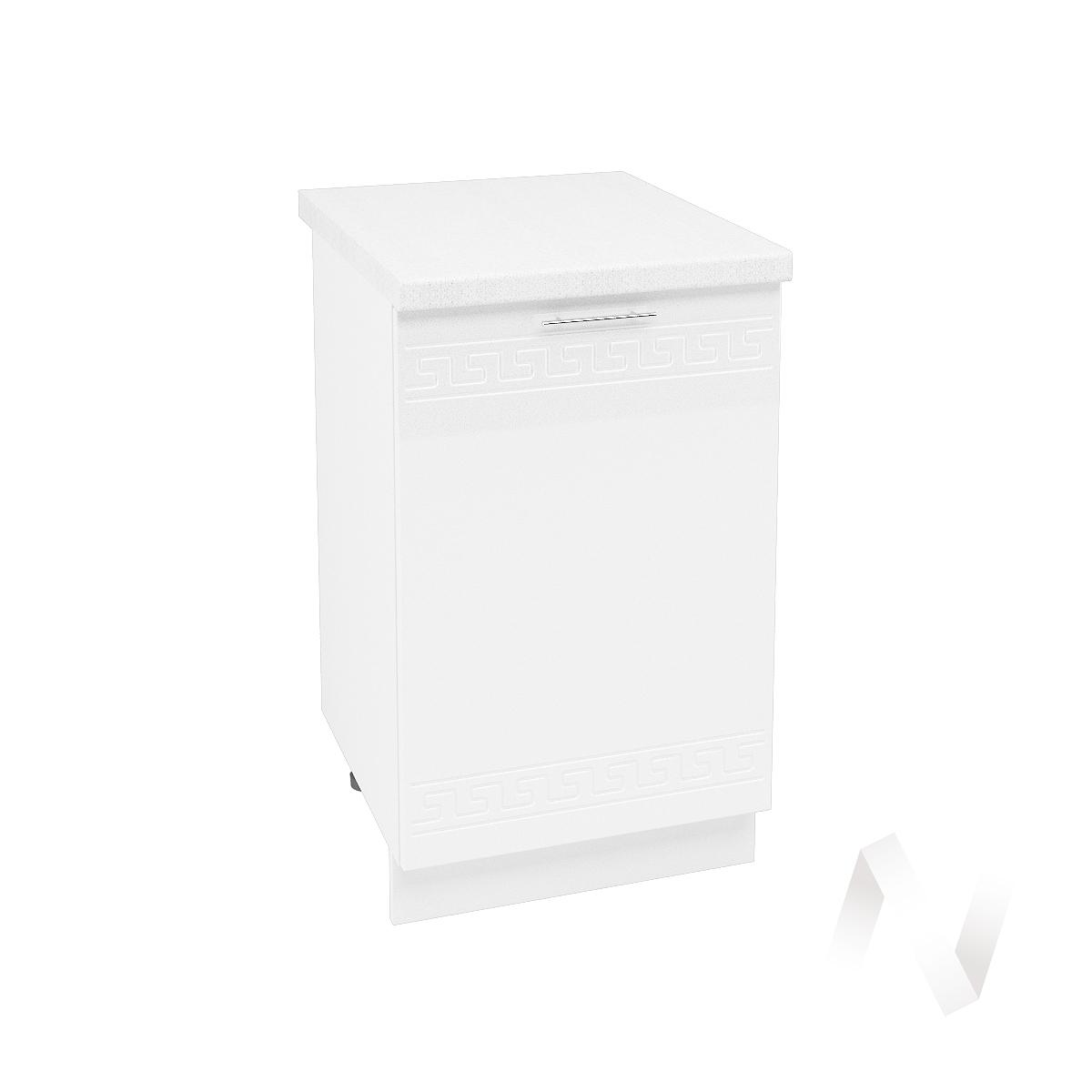 """Кухня """"Греция"""": Шкаф нижний 500, ШН 500 (белый металлик/корпус белый)"""