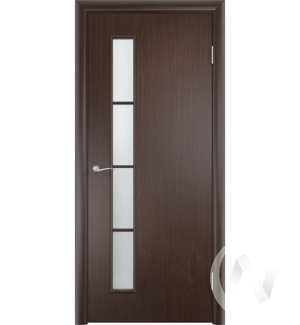 """Дверь ламинированная Тип """"Вертикаль"""", 60, ост,венге, стекло матовое"""
