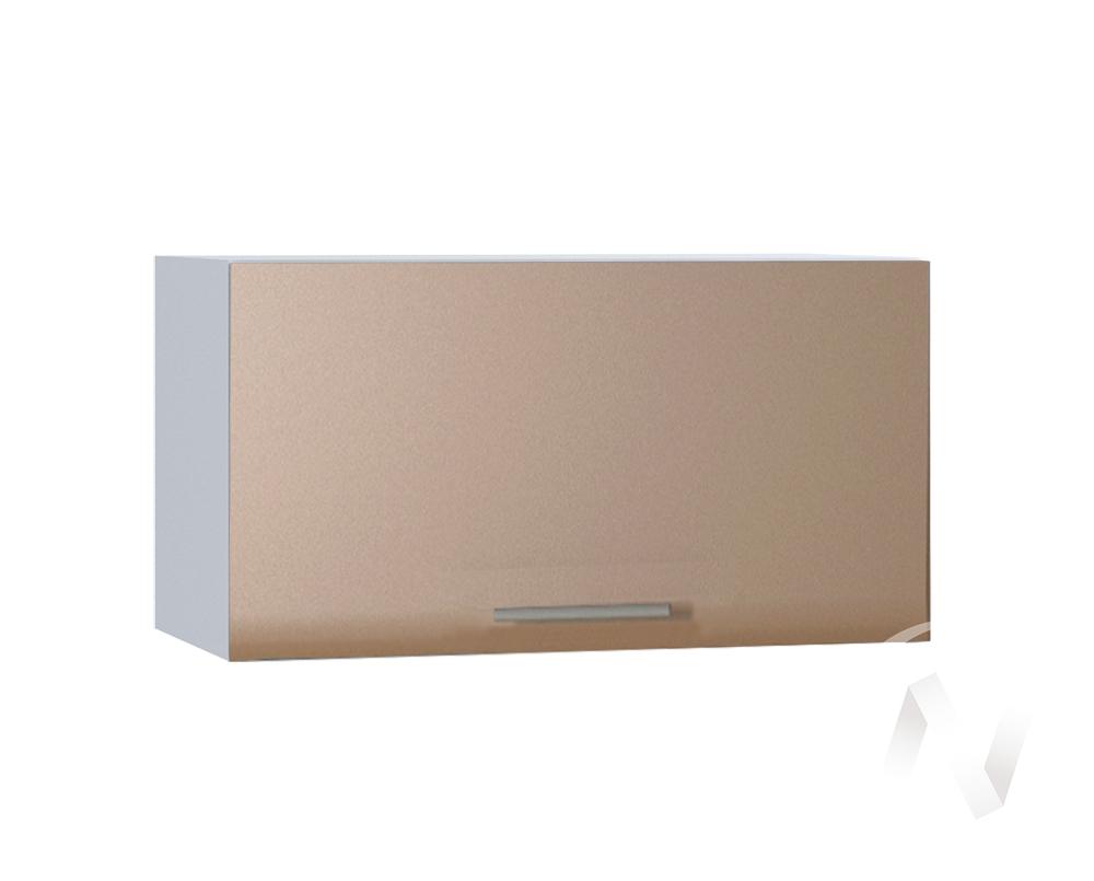 """Кухня """"Люкс"""": Шкаф верхний горизонтальный 600, ШВГ 600 (Шоколад матовый/корпус белый)"""