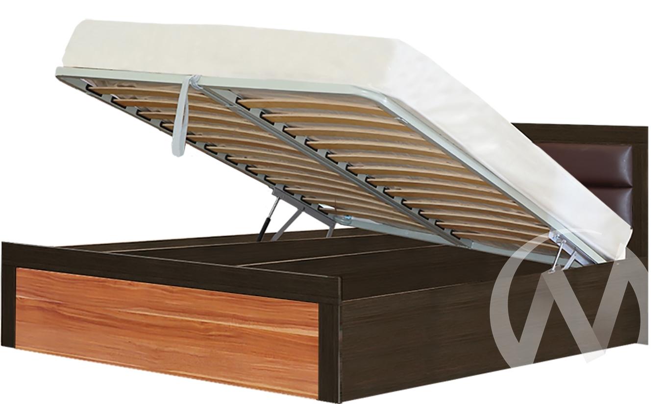Токио Кровать № 2 1,4 с подъемным механизмом (венге-слива валлис)
