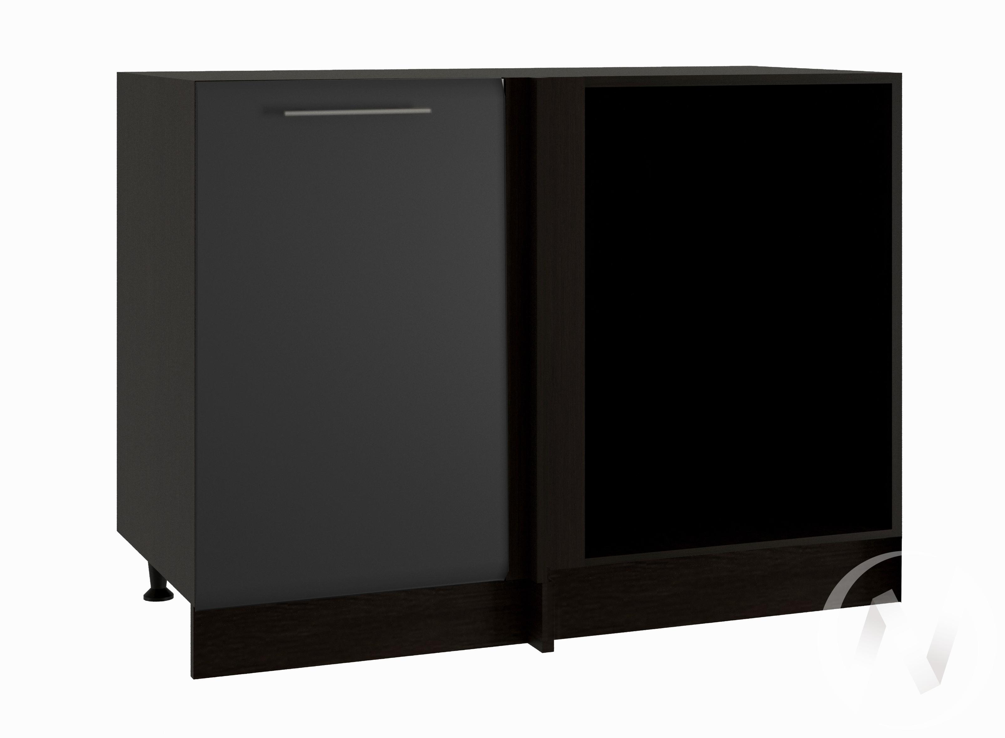 """Кухня """"Люкс"""": Шкаф нижний угловой 990, ШНУ 990 (Шелк венге/корпус венге)"""