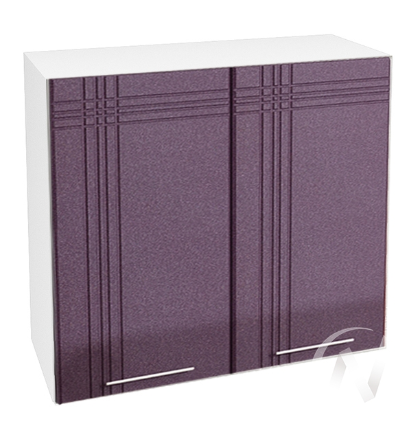 "Кухня ""Струна"": Шкаф верхний 800, ШВ 800 (фиолетовый металлик/корпус белый)"