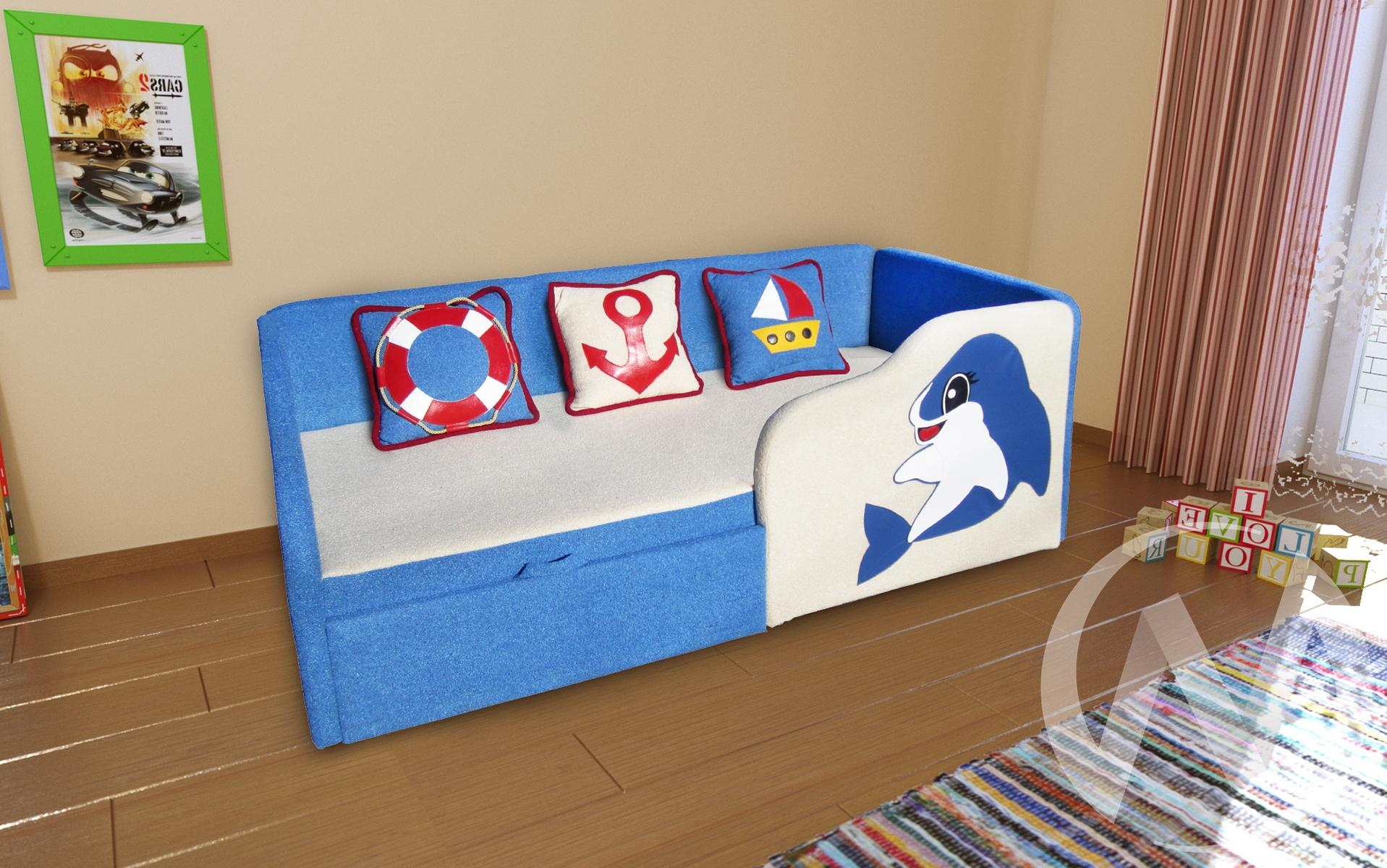 Дельфин диван детский правый  в Томске — интернет магазин МИРА-мебель