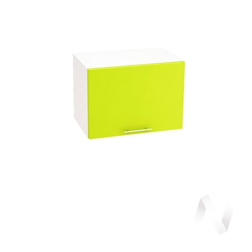 """Кухня """"Валерия-М"""": Шкаф верхний горизонтальный 500, ШВГ 500 (лайм глянец/корпус белый)"""