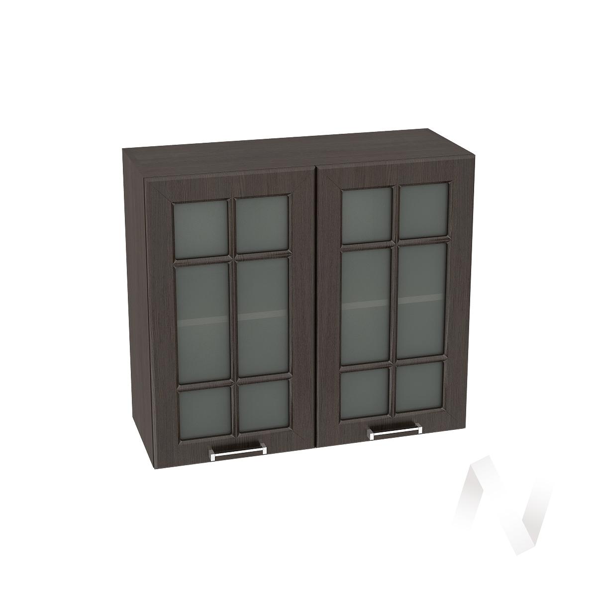"""Кухня """"Прага"""": Шкаф верхний со стеклом 800, ШВС 800 (венге/корпус венге)"""