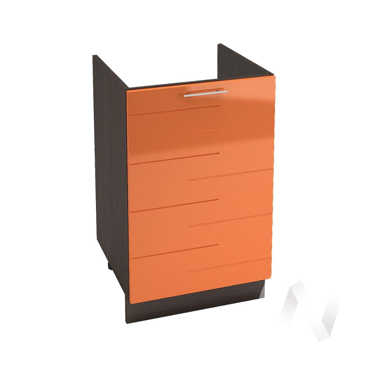"""Кухня """"Техно"""": Шкаф нижний под мойку 500, ШНМ 500 (корпус венге)"""