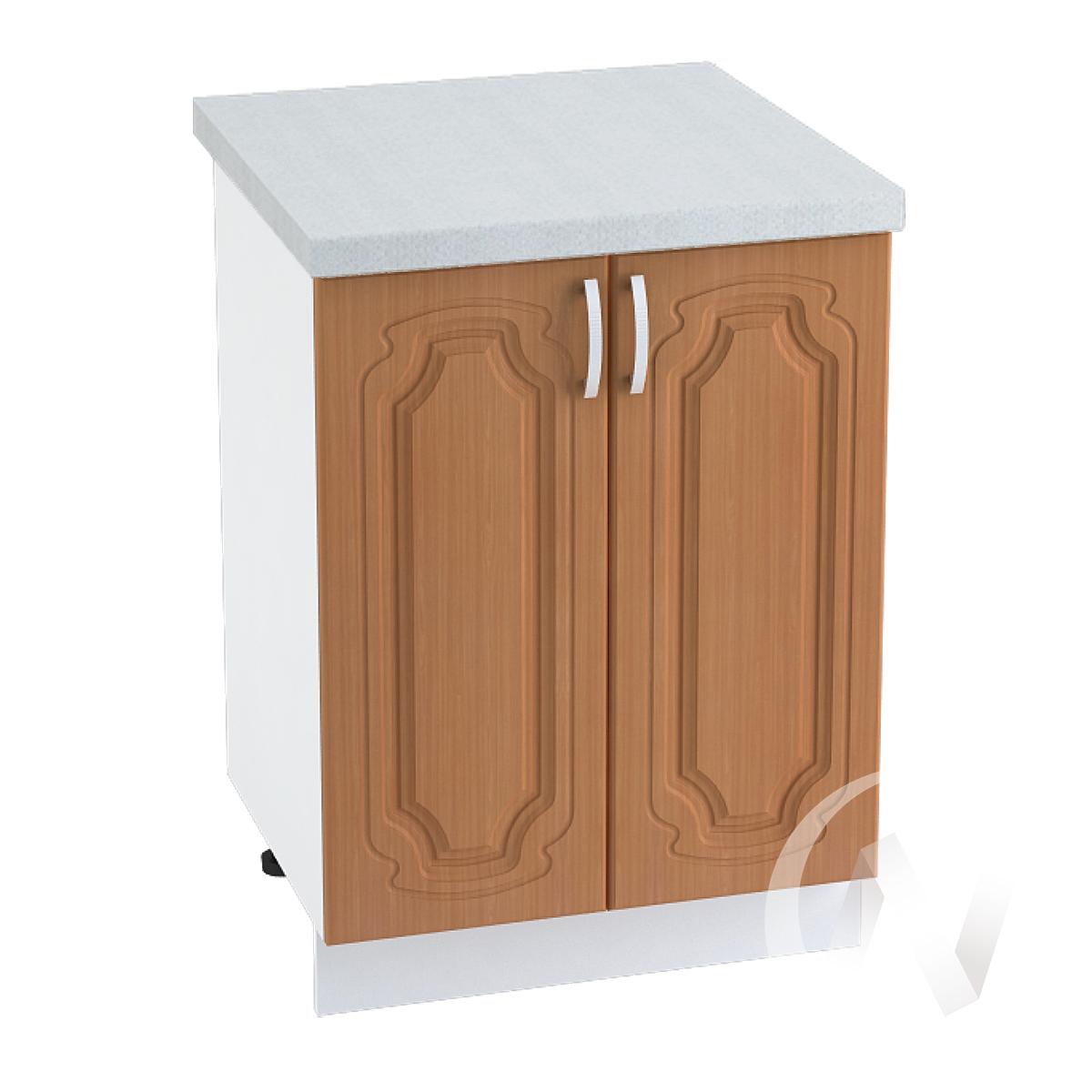 "Кухня ""Настя"": Шкаф нижний 600, ШН 600 (Орех миланский/корпус белый)"