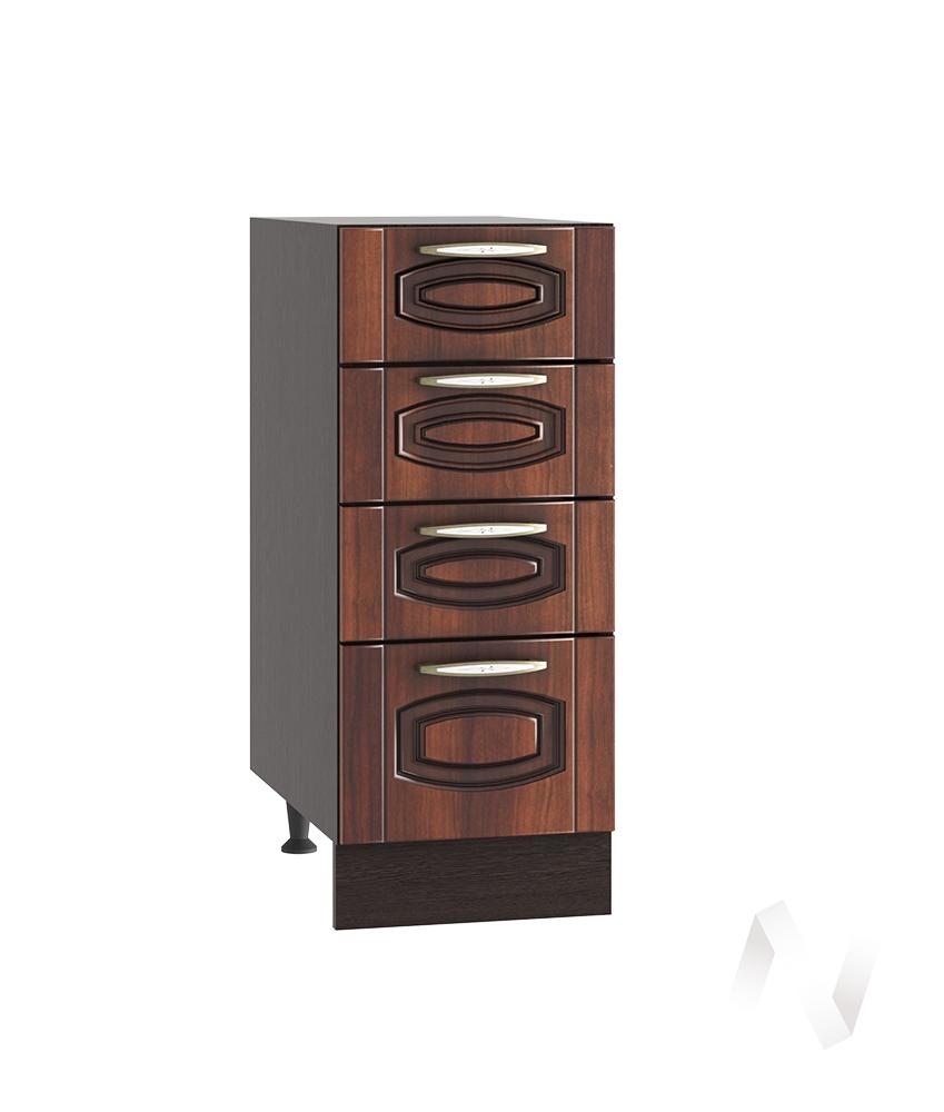"""Кухня """"Неаполь"""": Шкаф нижний с 4-мя ящиками 300, ШН4Я 300 (Италия/корпус венге)"""