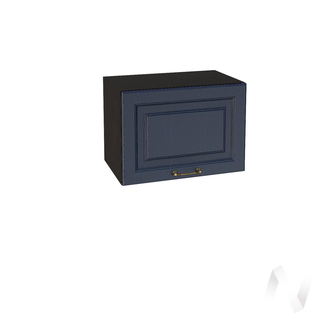 """Кухня """"Ницца"""": Шкаф верхний горизонтальный 500, ШВГ 500 (Дуб чернильный/корпус венге)"""