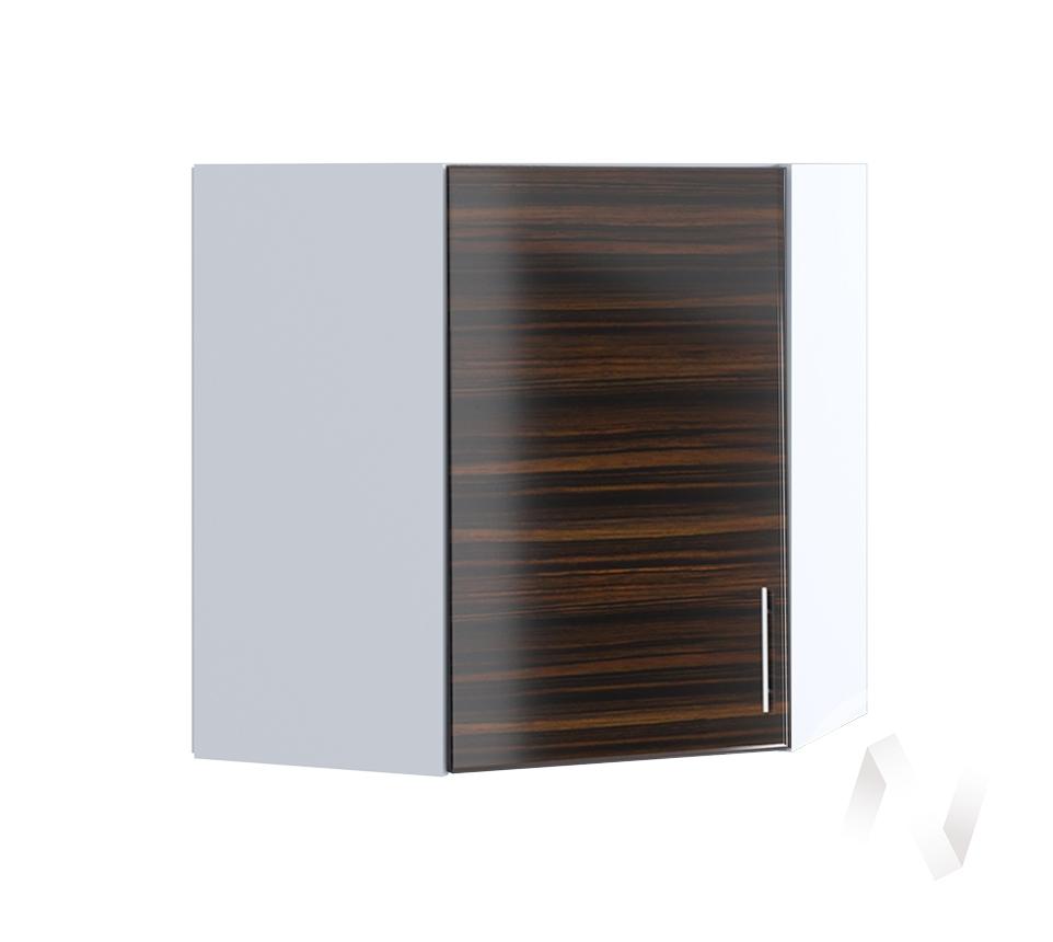 """Кухня """"Норден"""": Шкаф верхний угловой 590, ШВУ 590 (эбен/корпус белый)"""