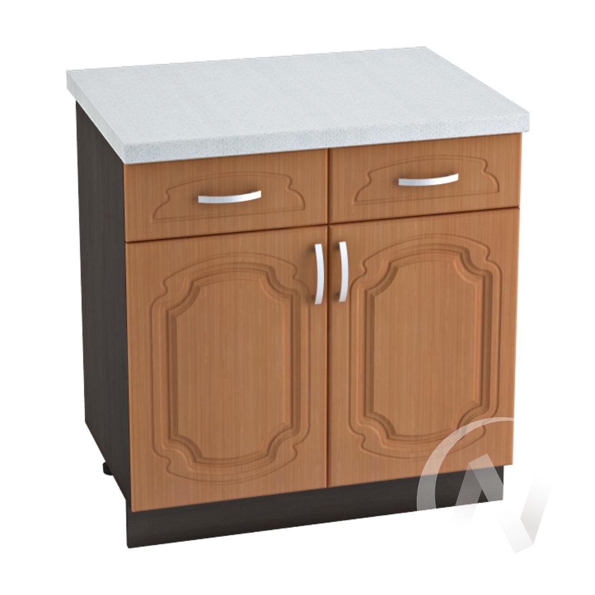 """Кухня """"Настя"""": Шкаф нижний с ящиками 800, ШН1Я 800 (Орех миланский/корпус венге)"""