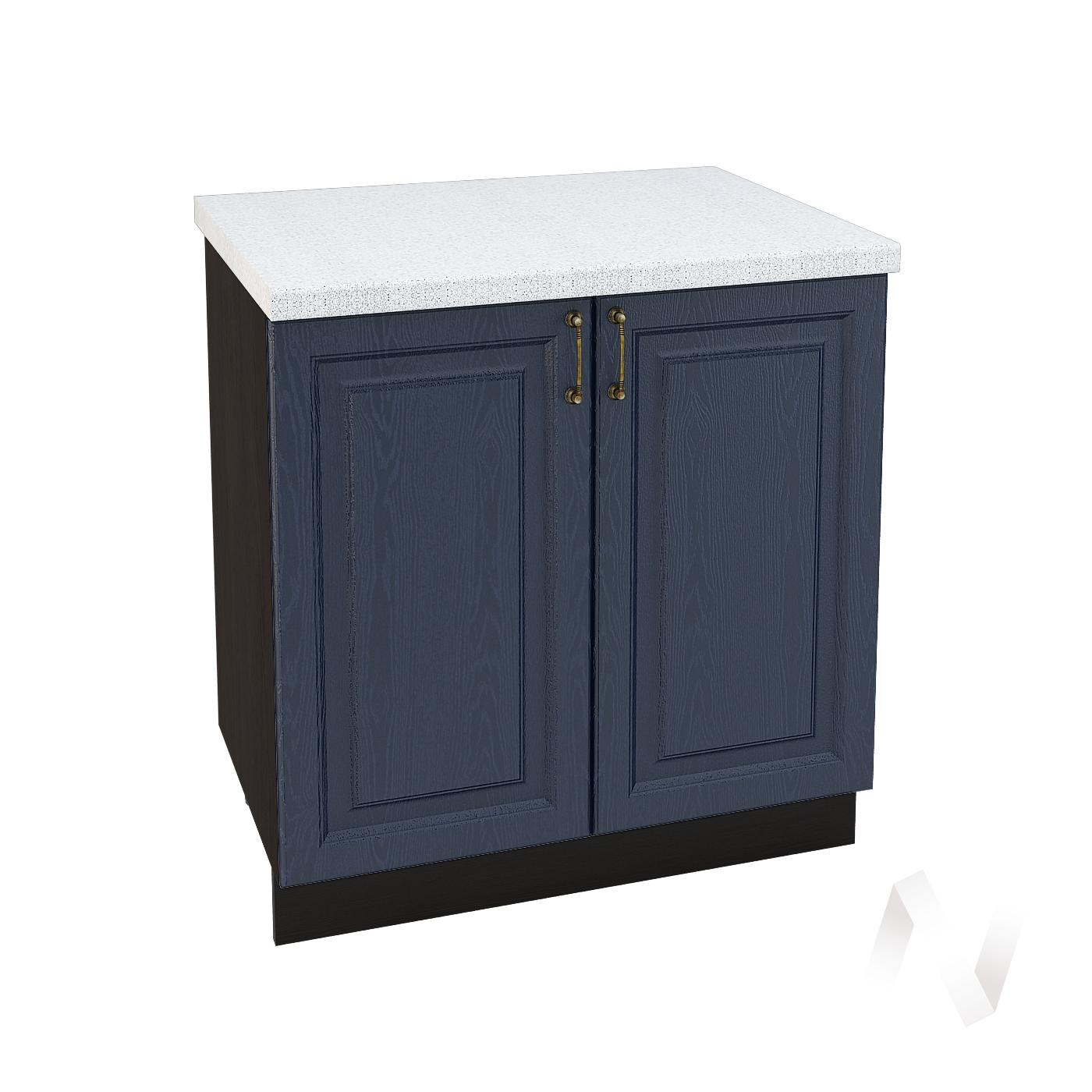 """Кухня """"Ницца"""": Шкаф нижний 800, ШН 800 (Дуб чернильный/корпус венге)"""