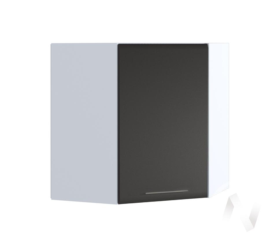 """Кухня """"Люкс"""": Шкаф верхний угловой 590, ШВУ 590 (Шелк венге/корпус белый)"""